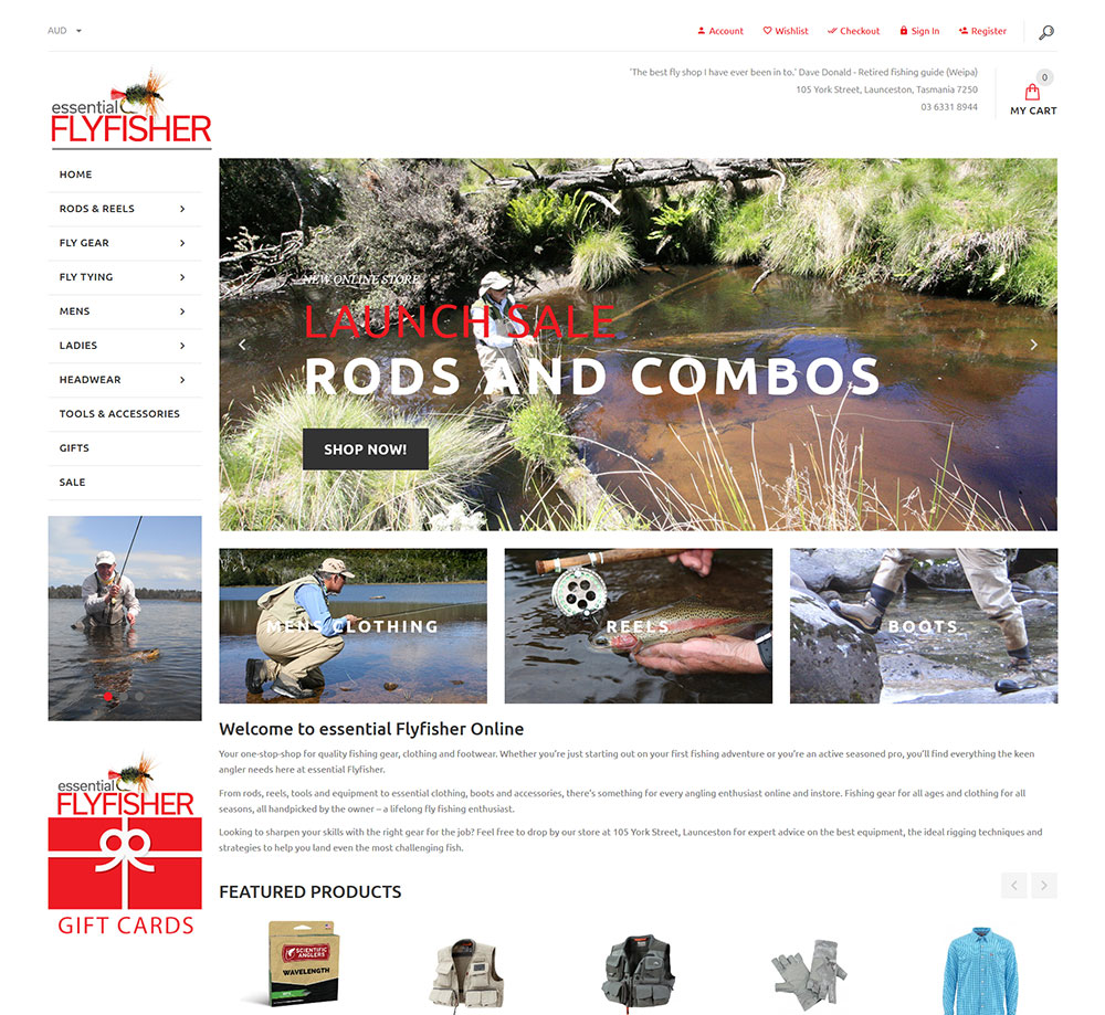 essential FlyFisher Website Design in Launceston